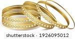 Indian Bridal Gold Diamond Cut...