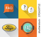 faq  frequently asked questions ...   Shutterstock .eps vector #192610712