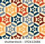 seamless vector geometric strip ... | Shutterstock .eps vector #192612686