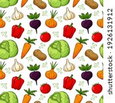 seamless pattern with different ... | Shutterstock .eps vector #1926131912