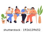 people sitting at table having... | Shutterstock .eps vector #1926139652