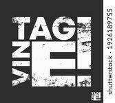vintage t shirt print stamp for ... | Shutterstock .eps vector #1926189755