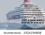 Cruise Ship Moored At The Port...