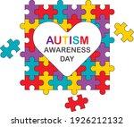 autism awareness month.... | Shutterstock .eps vector #1926212132