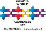 autism awareness month.... | Shutterstock .eps vector #1926212135