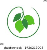 lime logo. isolated lime on... | Shutterstock .eps vector #1926213005