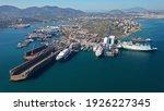 Aerial Drone Photo Of Shipyard...