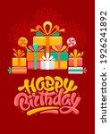 happy birthday greeting card... | Shutterstock .eps vector #1926241892