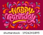 happy birthday festive design.... | Shutterstock .eps vector #1926241895