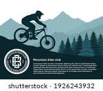 vector mountain biking...   Shutterstock .eps vector #1926243932