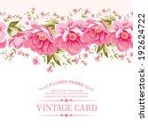 border of flowers for seamless... | Shutterstock .eps vector #192624722