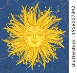 golden sun graphic symbol  hand ...   Shutterstock .eps vector #1926257342
