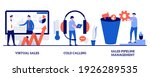 virtual sales  cold calling ... | Shutterstock .eps vector #1926289535
