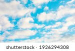 blue sky and white clouds on a... | Shutterstock . vector #1926294308