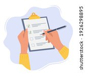 hands holding clipboard with... | Shutterstock .eps vector #1926298895