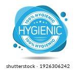 hygienic. blue sticker  label... | Shutterstock .eps vector #1926306242