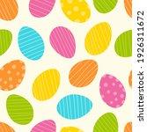 easter egg pattern. flat...   Shutterstock .eps vector #1926311672