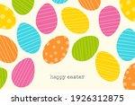 easter egg greeting card design....   Shutterstock .eps vector #1926312875