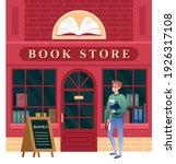 book store facade vector...   Shutterstock .eps vector #1926317108