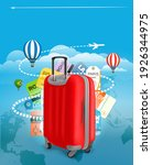travel bag and different...   Shutterstock .eps vector #1926344975