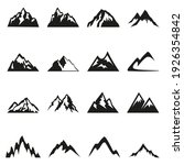 set of mountain silhouettes... | Shutterstock .eps vector #1926354842