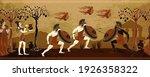 ancient greece battle scene....   Shutterstock .eps vector #1926358322
