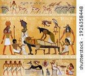 ancient egypt. mummification... | Shutterstock .eps vector #1926358448