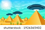 abstract aliens on flying... | Shutterstock .eps vector #1926365402