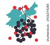grapes abstract modern... | Shutterstock .eps vector #1926374285