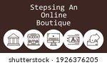 stepsing an online boutique...