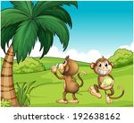 illustration of the two monkeys ...   Shutterstock . vector #192638162