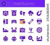 good business icon set. 20...