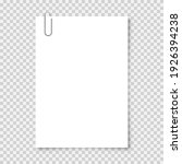 realistic blank paper sheet in...   Shutterstock .eps vector #1926394238
