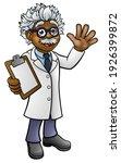 a cartoon scientist professor... | Shutterstock . vector #1926399872