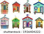 Set Of Beach Houses With...
