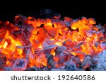Burning Coal. Glowing Embers...