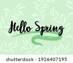 ligh green hello spring banner...   Shutterstock .eps vector #1926407195