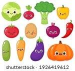 cartoon vegetable collection.... | Shutterstock .eps vector #1926419612