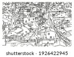 tiled roofs of old nice. city. ... | Shutterstock .eps vector #1926422945