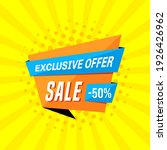 promotional sale banner... | Shutterstock .eps vector #1926426962