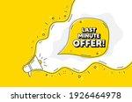 last minute offer. loudspeaker...   Shutterstock .eps vector #1926464978