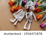 Fresh Spring  Tulips With...