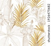 tropical exotic floral line... | Shutterstock .eps vector #1926475682