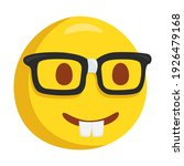 nerd with eyeglasses emoji icon ... | Shutterstock .eps vector #1926479168