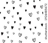 hand drawn doodle hearts...   Shutterstock .eps vector #1926485672