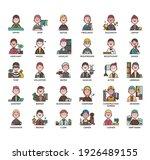 occupation set2 man  thin line...   Shutterstock .eps vector #1926489155