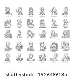 occupation set2 women  thin...   Shutterstock .eps vector #1926489185