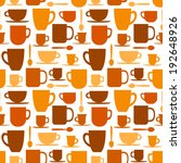 seamless pattern with coffee... | Shutterstock .eps vector #192648926