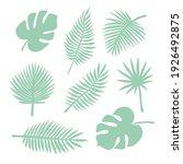 vector set bundle of mint green ...   Shutterstock .eps vector #1926492875