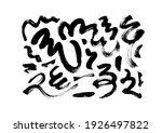 black paint wavy brush strokes... | Shutterstock .eps vector #1926497822